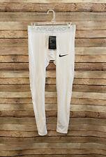 Nike Pro Mens Dri Fit Tights Leggings Compression Pants White M Medium New NWT