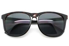 3b6e976bb4 Grande Hombre Gafas de Sol Cuadradas Negro Oscuro Lentes Marco de Plástico