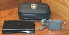 Nintendo DS Lite (USG-001) Black Handheld System w/ Heavy Duty Zip-Up Case!