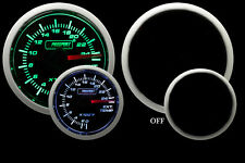 ProSport 52mm Performance Series Exhaust Gas temp. Gauge Green/White