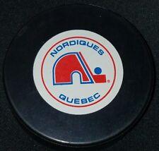 1980s NORDIQUES QUEBEC INGLASCO VINTAGE CANADA NHL HOCKEY GAME PUCK OLD GEM
