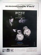 PUBLICITE-ADVERTISING :  BOVET Sergio - Pininfarina  2014 Kronometry,Montres