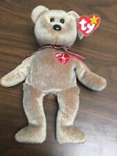 Rare Ty 1999 Signature Bear Beanie Baby Collectible with stitchin error on heart