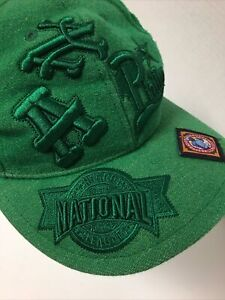 100% Wool Negro Leagues Baseball Museum Fitted Hat 7-3/8 MLB Crossover Vtg Cap