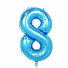 """40"""" Giant Blue Eight Year Old Baby First Birthday 8 Month Number Float Balloon"""