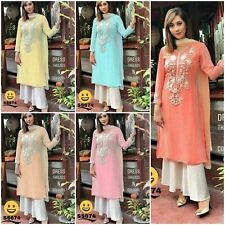 Designer Salwar Kameez Plazo Suit Indian Pakistani Palazzo Wedding Dress Plazzo