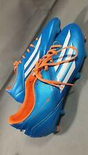 Adidas F10 Football Boots Mens UK Size 8 VGC *Missing 3 Studs ** BLUE / ORGANGE