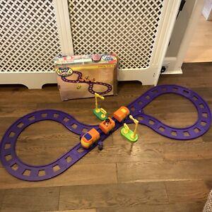 Rare ELC Happyland Intercity Train Set Purple Track Figures Motorised Happy Land