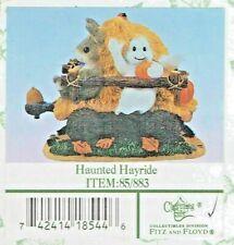 """Fitz & Floyd Charmng Tails Halloween """"Haunted Hayride"""" Mib"""