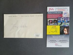 Larry Walker signed 1986 Burlington Expos Rare Index Card Jsa