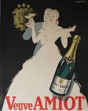 """""""VEUVE AMIOT"""" Affiche originale entoilée Litho FALCUCCI 1940 119x149cm"""