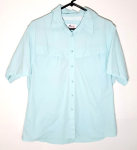 Womens Vented Fishing Shirt | Blue Button Casual Outdoors | Womens Large