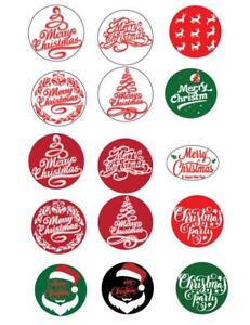 Merry Christmas Stickers Iron On Paper Reindeer Santa Novelty Xmas Gifts Party