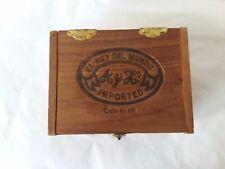 Empty Wood Cigar Box El Rey Del Mundo W A y H Cafe Au Lait Spanish Honduras