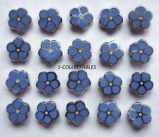 More details for ( 20x ) ✿ tiny masonic 'forget me not' pin badge ✿ chrome/enamel flower, lapel