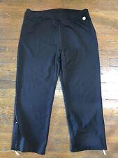 Danskin Now Black Fitted Activewear Capri Pants Size XL 16-18