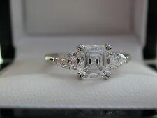 Asscher-Cut Diamond Ring, Pear-Cut Diamond Sides, Three-stone Ring, rrp £13995