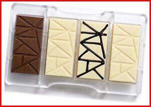 Decora Chocolate Mould Bar, polycarbonate, 20 x 12 x 2.3 cm