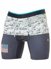 Boxer Shorts STANCE M903C18MIL Military Flag Black Men's Fashion