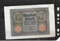 GERMANY GERMAN #69b 1920 VF CIRC ANTIQUE 100 MARK OLD BANKNOTE PAPER MONEY BILL