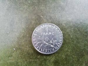 PIÈCE 1 FRANC 1977 LA SEMEUSE (1)