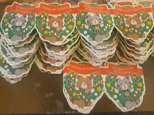 Vintage Paper Garland Santa's Workbench Cats Hangin From Xmas Wreath 50+ Feet