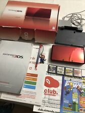 Nintendo 3DS Flame Red Bundle/Lot with 4 Games And Original Documents/Packaging