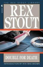 Nero Wolfe Ser.: Double for Death by Rex Stout (1995, Paperback)