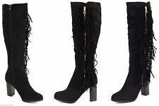 Block Heel Knee High Boots Unbranded Formal Shoes for Women