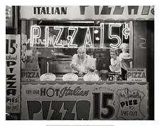 FAMOUS HOT ITALIAN PIZZA PHOTOGRAPH ART PRINT BY NAT NORMAN black & white poster
