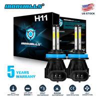 4 Side H11 LED Headlight Kit Low Beam Bulb Super Bright 6000K 60Days Free Return