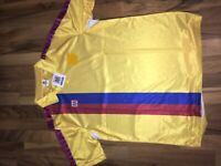 FC Barcelona Meyba Trikot Football Shirt Maglia Vintage Bordo 90's in L XL
