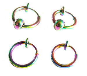 Fake Cheater Clip On Multi Helix Septum Ear Nose Eyebrow-Lip Ring Stud Ear Cuff