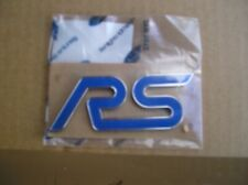 Ford Focus RS Mk2 09-11,NEW RS Name Plate,Blue/ Crome Genuine Ford Part 1670626