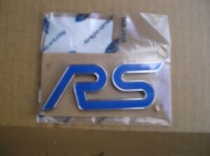 Ford Focus RS Mk2 09-11,NEW RS Name Plate ,Blue/ Crome Genuine Ford Part 1670626