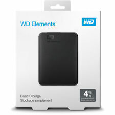 BRAND NEW Western Digital WD 4TB Portable Drive USB 3.0 WDBU6Y0040BBK PC / MAC
