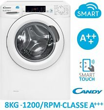 LAVATRICE 8 KG 1200 GIRI A+++ SMART TOUCH CANDY CSS128T3-01 FARAGO'
