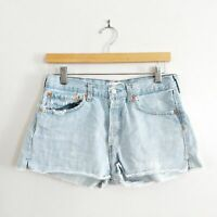 Re/Done Levi's Light Wash High Rise Cutoff Five Button Fly Denim Shorts 26