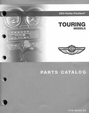 2003 HARLEY-DAVIDSON TOURING 100TH ANV PARTS CATALOG MANUAL -NEW SEALED-FLHTCU