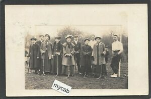Postcard Lewes Sussex ladies hockey team posted 1904 to Hamsey Place RP