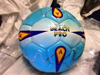BEACH FOOTBALL MITRE PRO AT £7 IN BLUE  IN SIZE 5