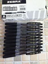 Box of 10 pcs Zebra Retractable Gel Pens Sarasa   0.7mm BLACK ink