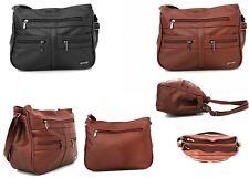 New Ladies Womens Girls Designer Soft PU Leather Handbag Shoulder Bag - 90827
