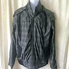 Volcom 2 Layer Jacket Coat Shell Gray & Black Plaid Snowboard Unisex Size L