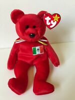 RARE 1999 Ty Beanie Baby OSITO the Red Mexican Bear – Ships FREE, MWMT & RARE !!