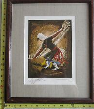 The Eagle Dancer, Signed Framed Print by Artist, Clair Millett, Day-Ga-Khle-Chee