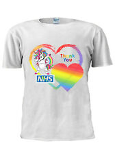 Thank You NHS and Key Workers Rainbow Unicorn T Shirt Men Women Unisex M542