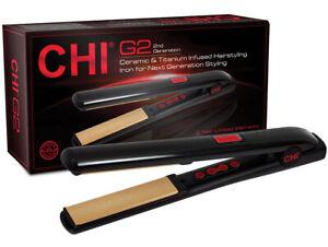 """CHI G2 Ceramic & Titanium Infused Straightening/Hairstyling Iron - 1"""""""