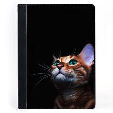 Cute Cat Pet Animal Gorgeous Kitten Portrait Wallet Tablet Leather Case Cover