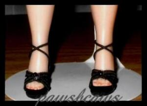 """BLACK High Heel SHOES for 9"""" & 10"""" CISSETTE Tiny Kitty Collier COQUETTE CISSY"""